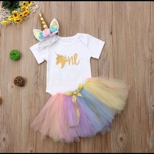 Other - NEW unicorn 1st birthday tutu set